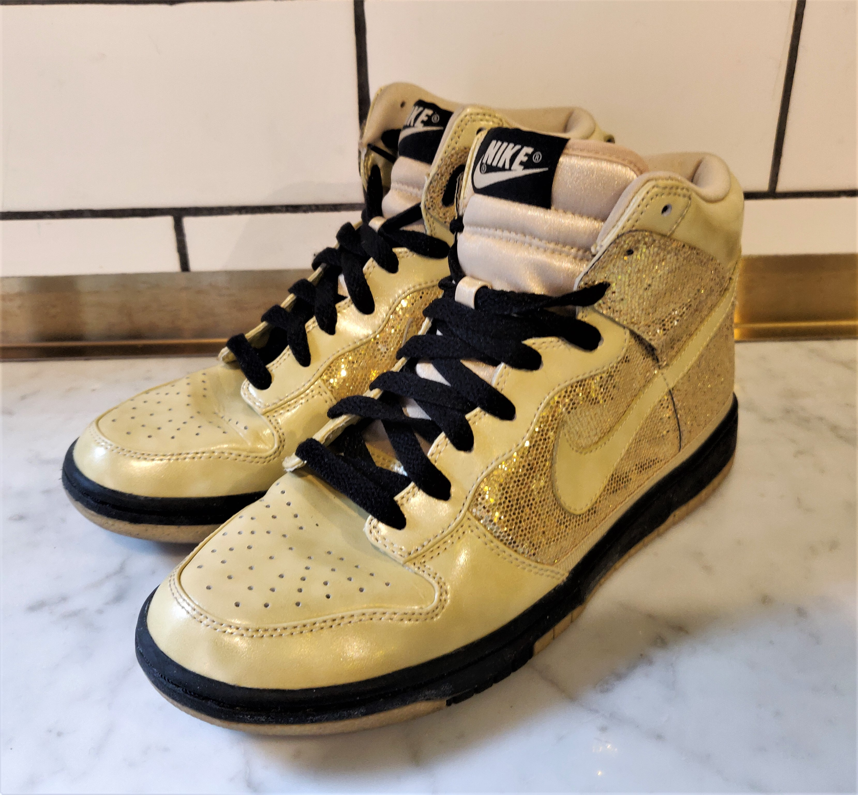 Nike Metallic Gold Dunk High