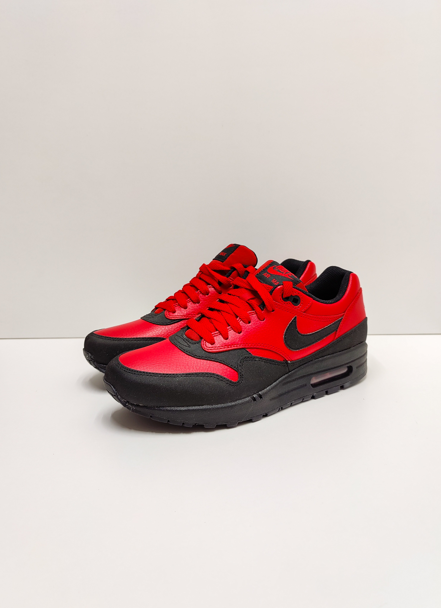 Nike Air Max 1 Leather Premium Gym Red Black