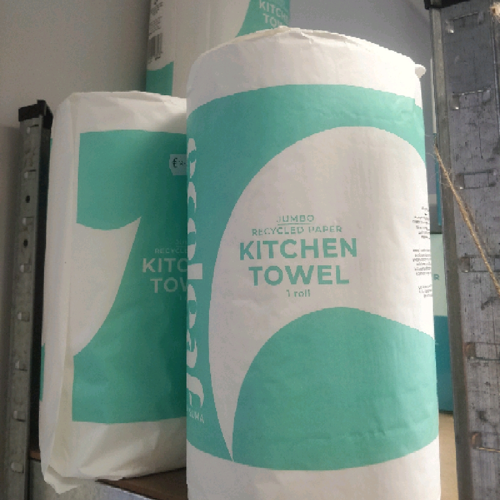 Jumbo Recycled Paper Kitchen Roll