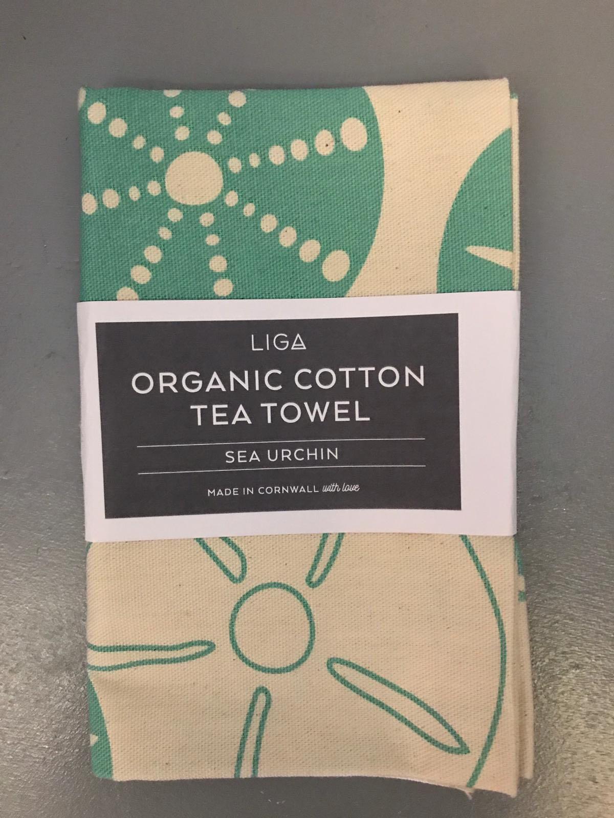 LIGA sea urchin tea towel