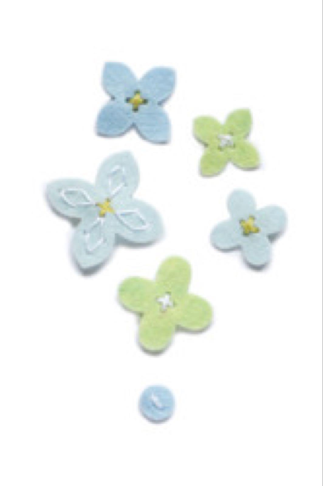 Memory box pluss flower buttons