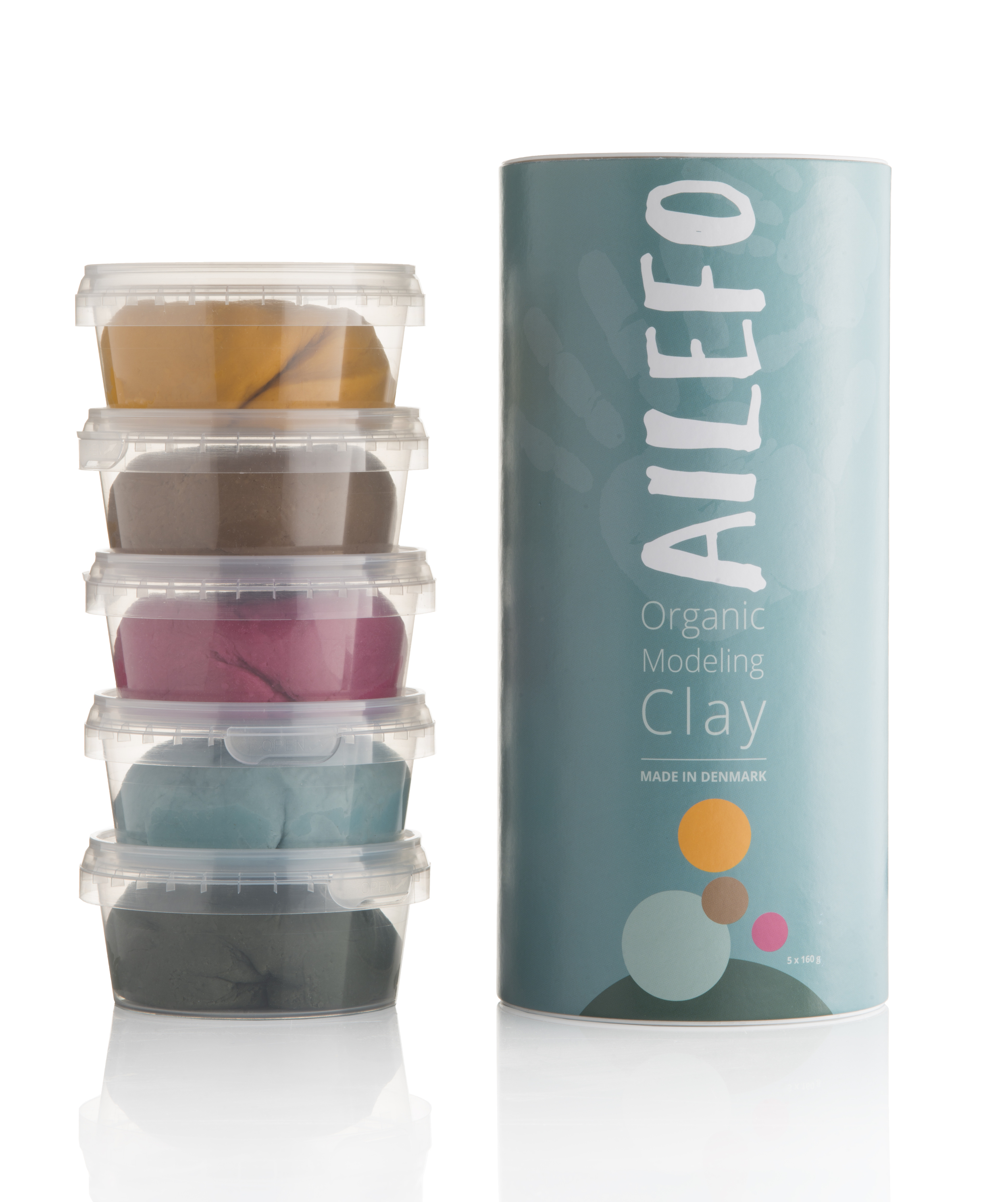 Ailefo Organic Modeling Clay L - Basic Colour