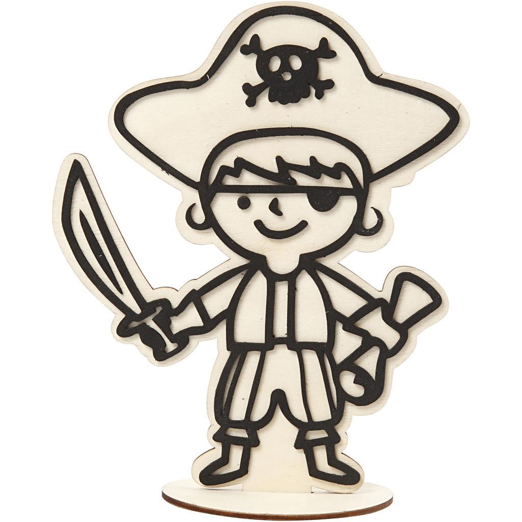 Dekorationsfigur Pirat, H: 19 cm
