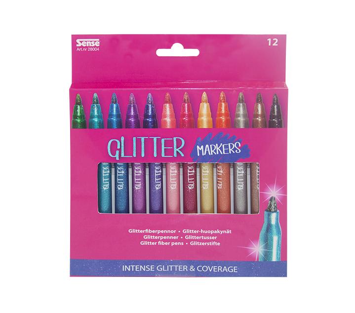 Glitter Fiber Pennor 12 st
