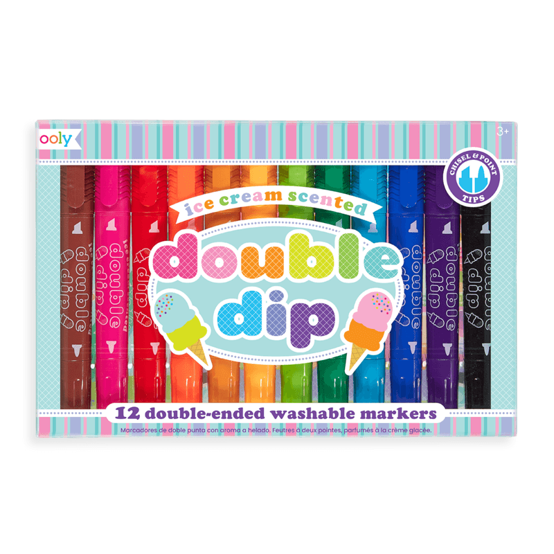 Double Dip Ice Cream Scented Markers Ooly