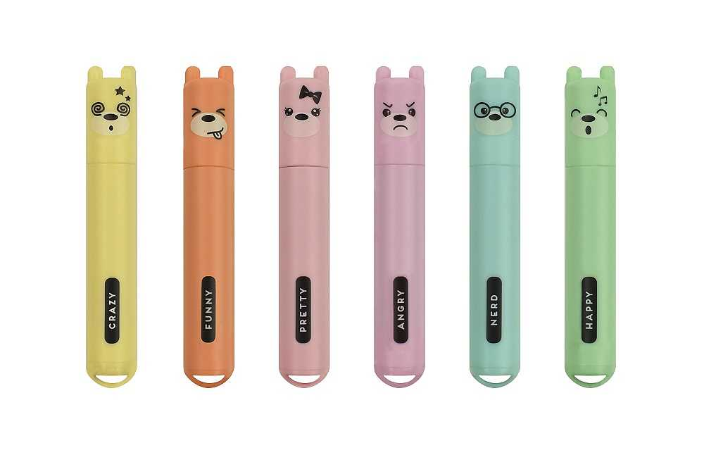 Teddy's style,  6 mini-highlighters