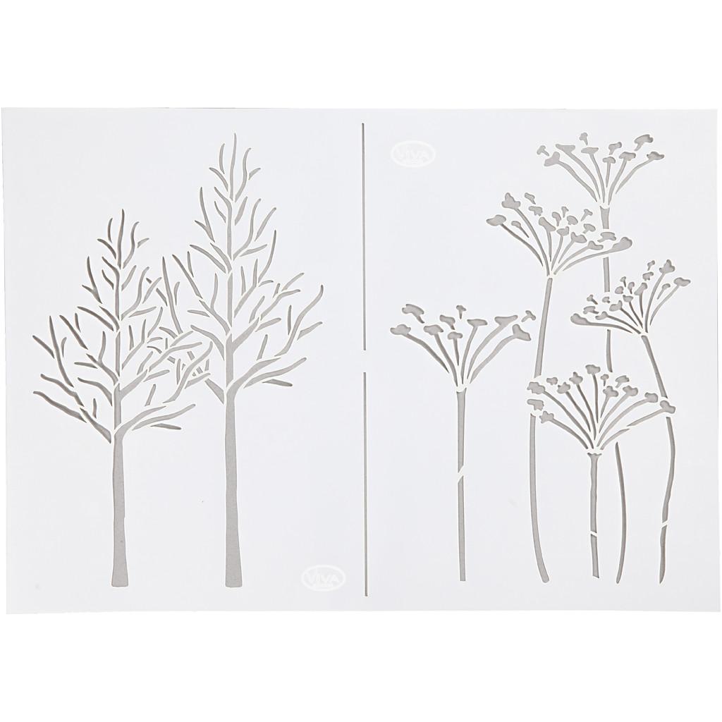 Stencil, Höst, A4, 210 x 297 mm, 1 st