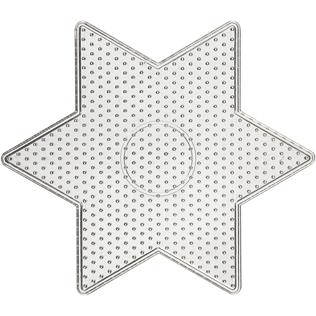 Pärlplatta Stjärna 15x15