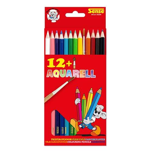 Akvarellpennor 12 pack och en pensel