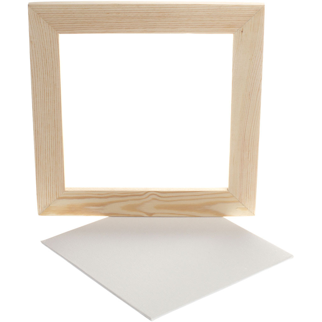 Träram med målarplatta 25,8 x 25,8 cm