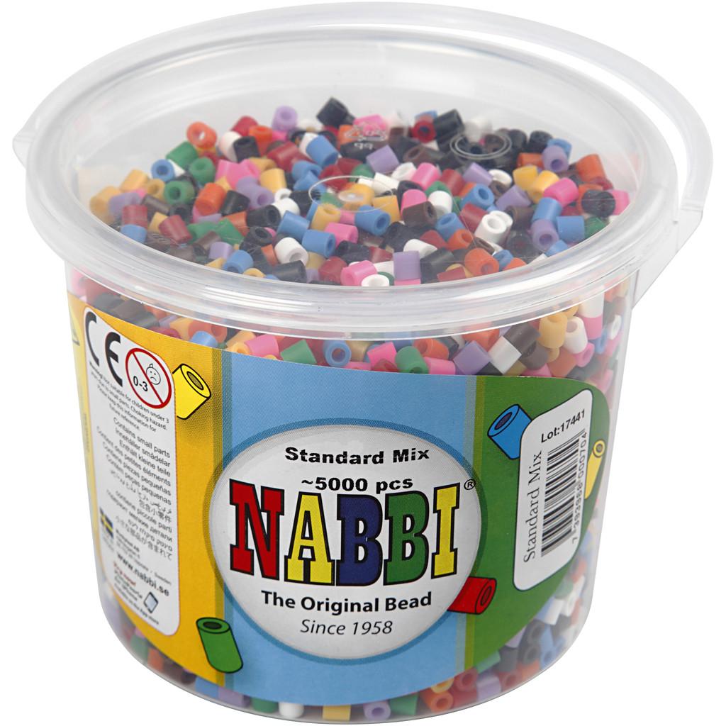 Nabbi Rörpärlor Stl M 5000 Mixade färger