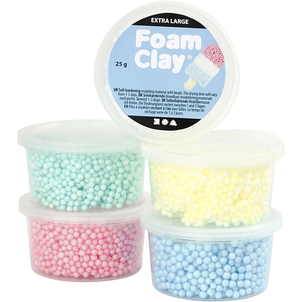Foam Clay Extra Large, 5 st färger