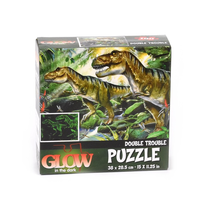 Double Trouble Glow in The Dark Puzzle 100pc