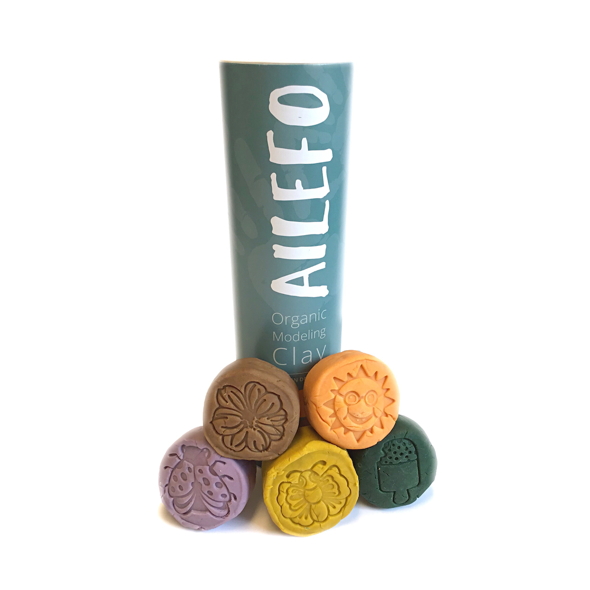 Ailefo Organic Modeling Clay - Forest Colour