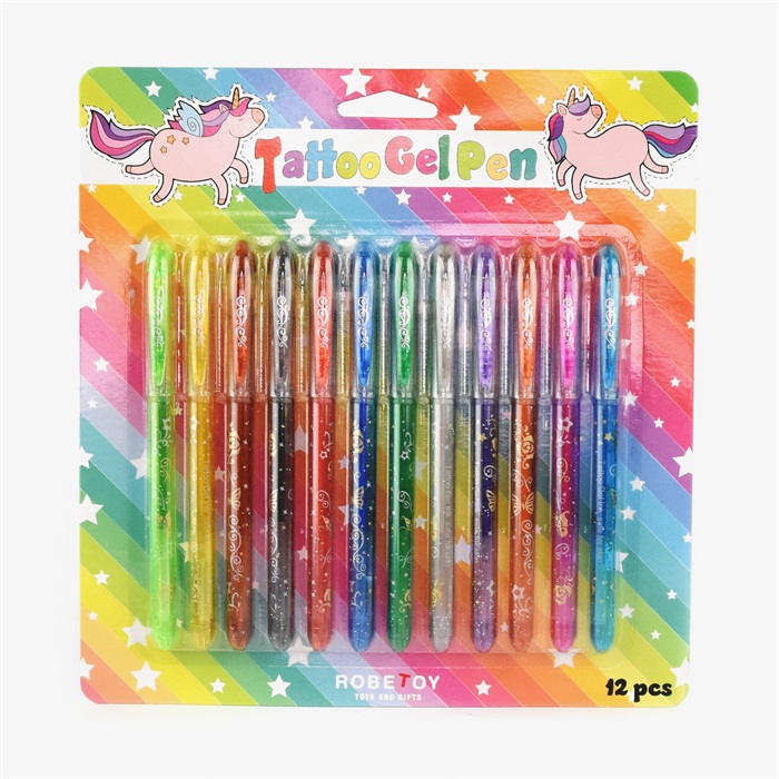 Tattoo Gel Pen 12 st pennor