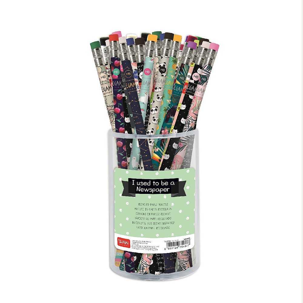 Blyertspenna med sudd återvunnet tidningspapper