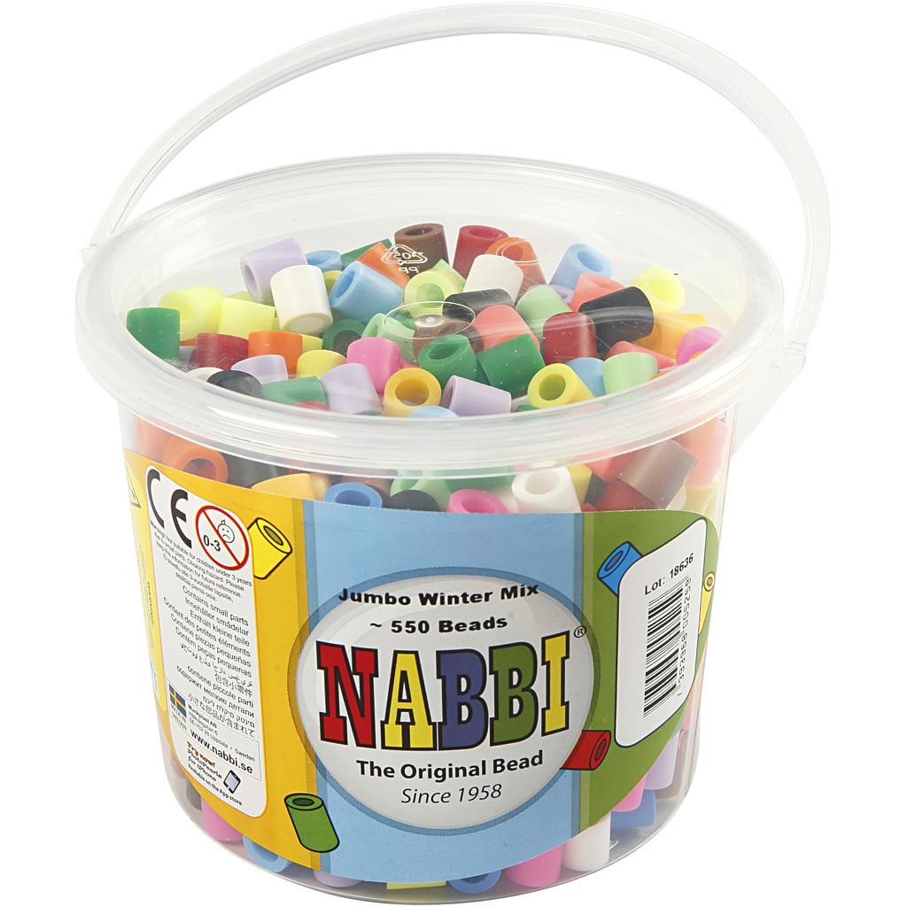 Nabbi Rörpärlor Jumbo Mixade färger