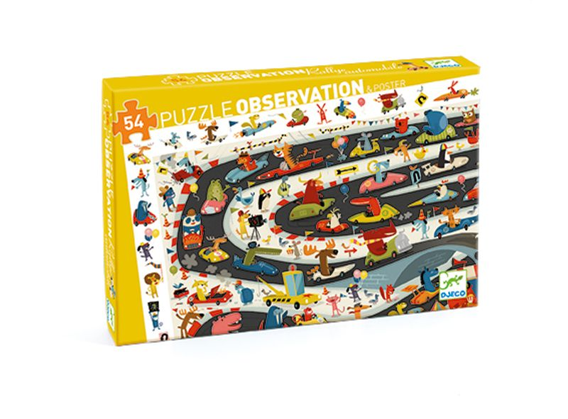 Car Rally Puzzle Observation Djeco 54pc