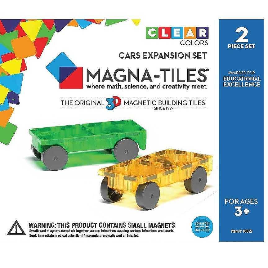Magna-Tiles Cars 2 set