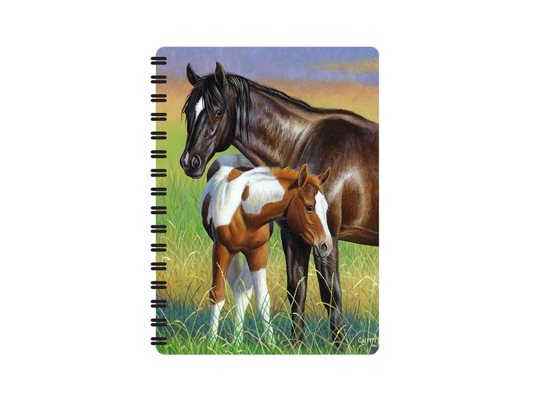 Häst och Föl Anteckningsbok 3D