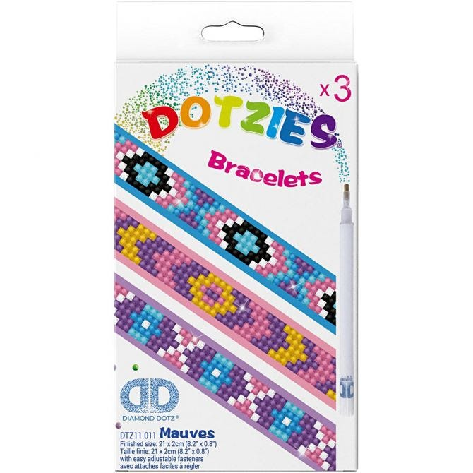 Diamond Dotzies Bracelets x 3