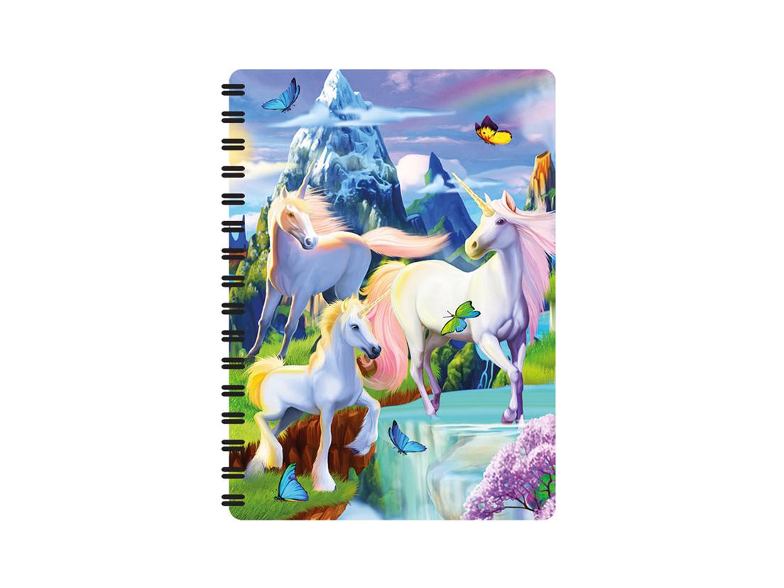 Enhörning och Pegasus Anteckningsbok 3D