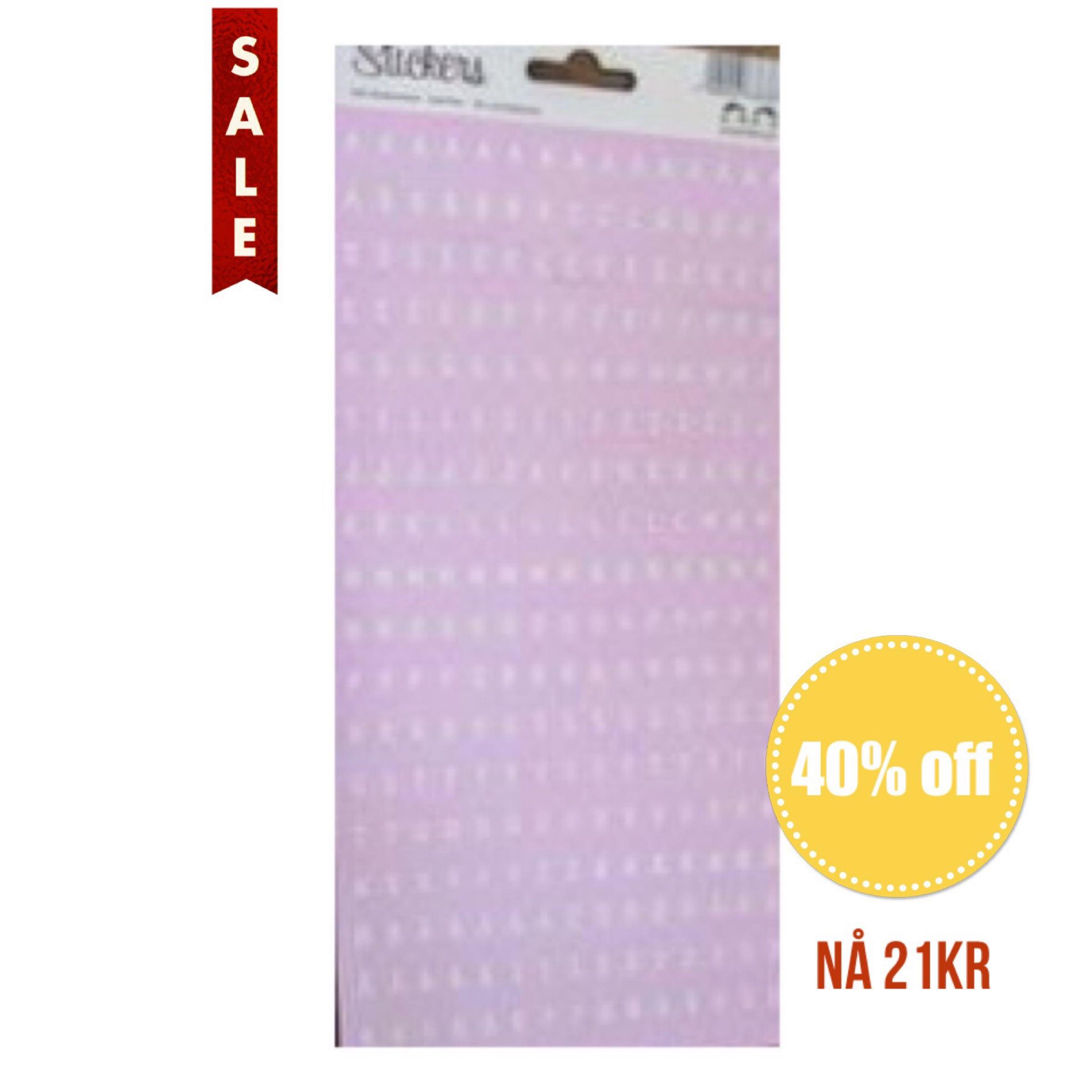 Papirdesign Alphabet Stickers / Klistremerker Alfabet - Rosa / Pink