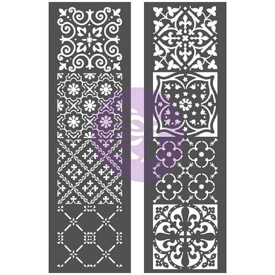 "Re-Design with Prima Stencil / Sjablong - Arabesque 22""x28"""