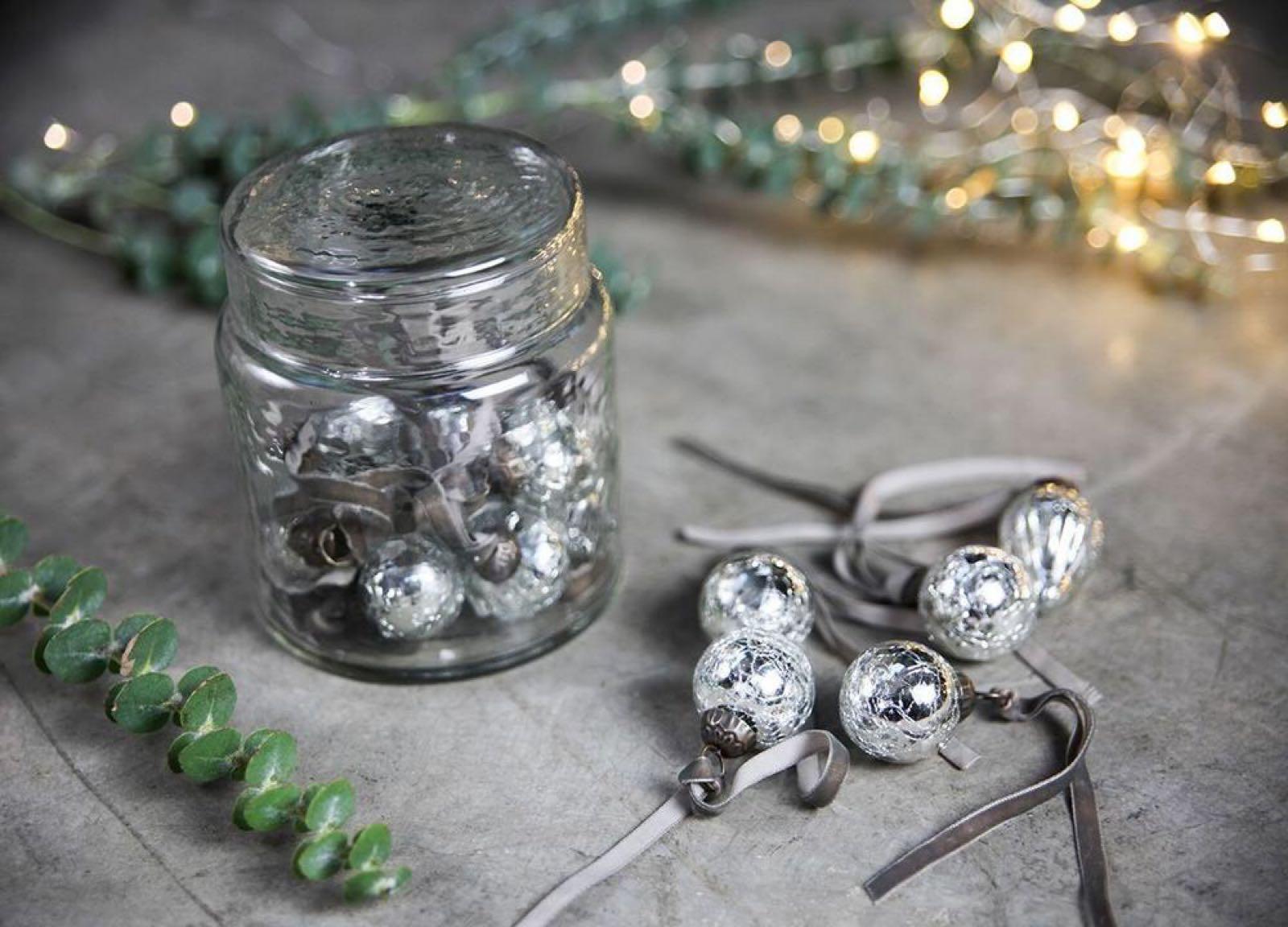 Adisa Bauble Jar - Antique Silver