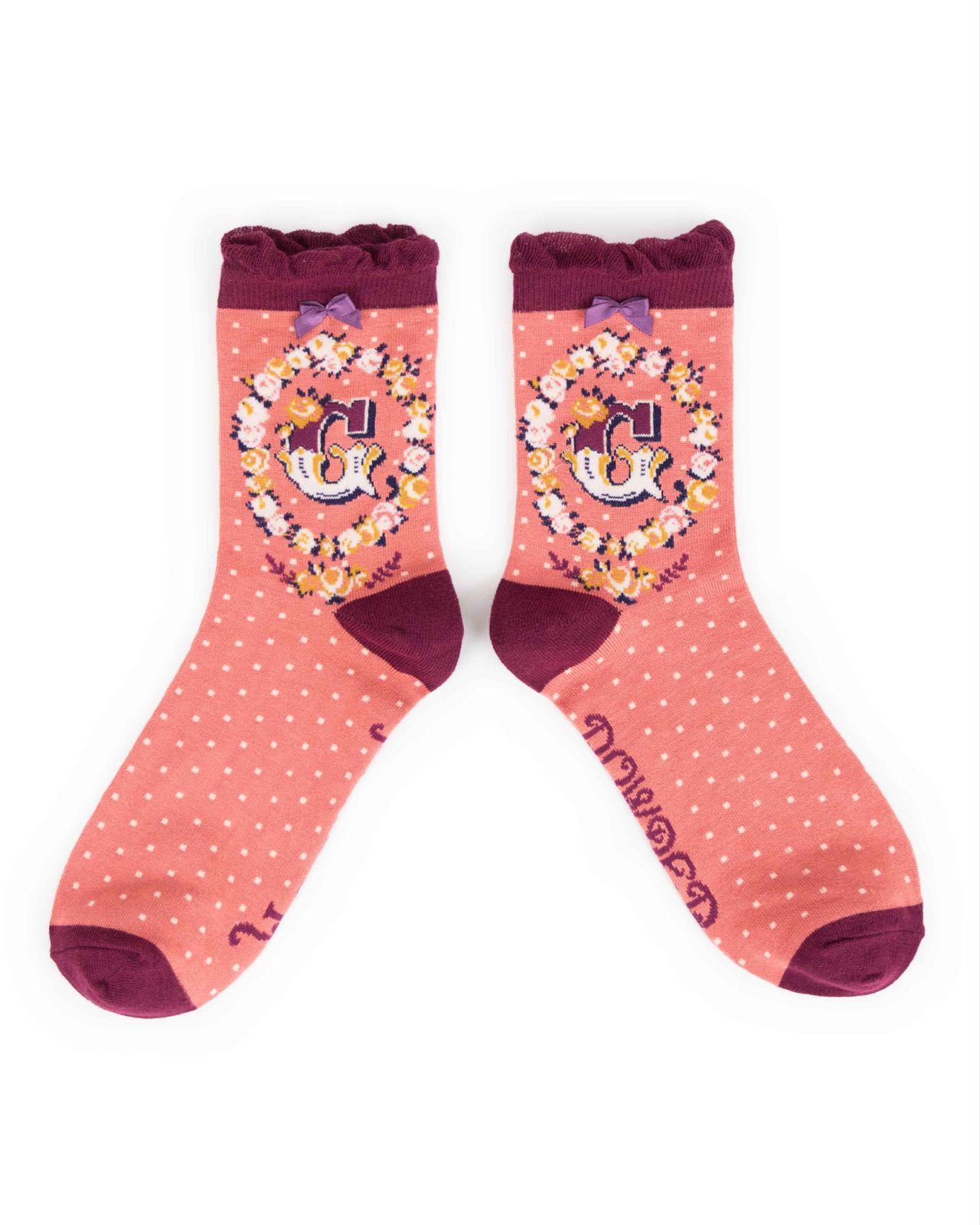 Powder Alphabet socks G (product may differ from item shown in the photo)