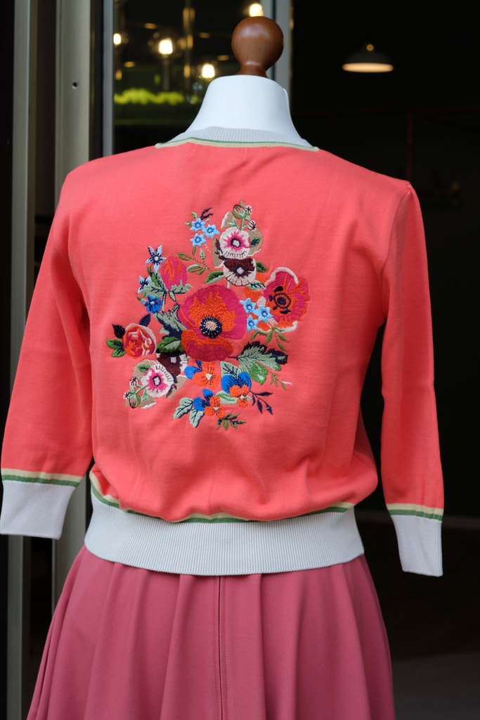 "Palava, Cardigan ""Classic"", Coral Floral"