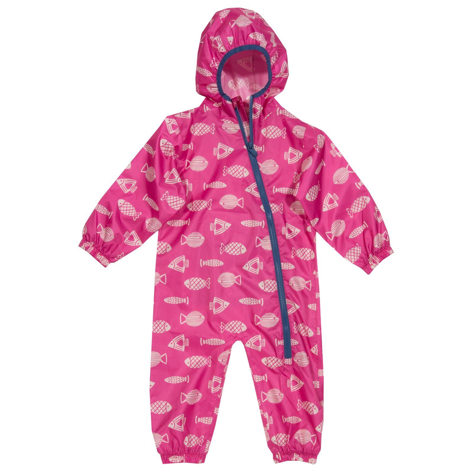 Kite Puddlepack Suit, Pink Fish