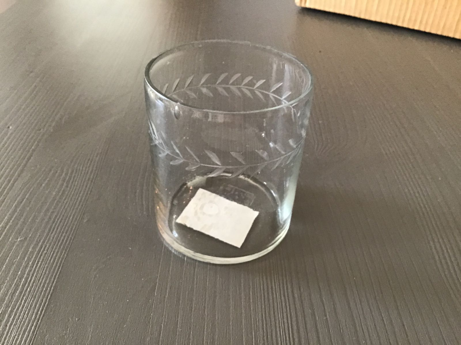 Ljuslykta i glas liten  blomsterbård