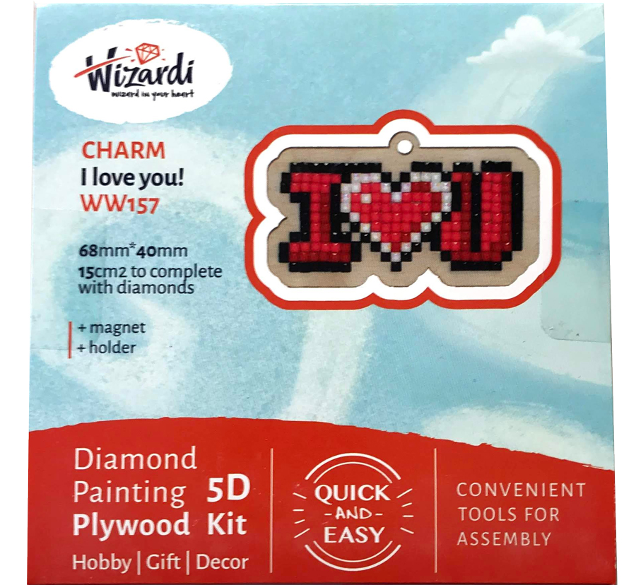 I Heart You 5D Diamond Paint, krydsfiner projekt