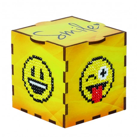 Smile boks 5D Diamond Paint, krydsfiner projekt