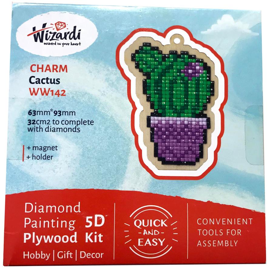 Kaktus 5D Diamond Paint, krydsfiner projekt