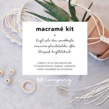 Macrame kit/knytning