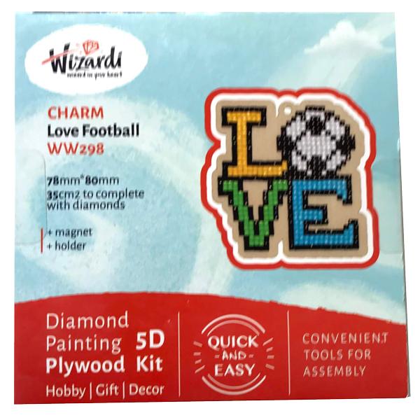 Love fodbold 5D Diamond Paint, krydsfiner projekt