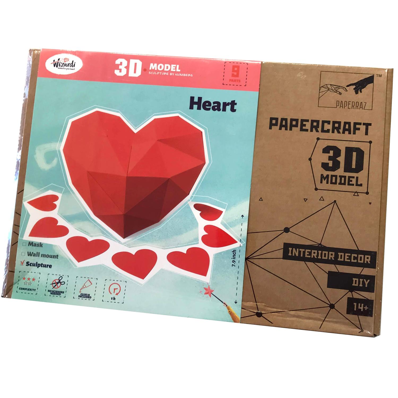 Hjerte  3D papirprojekt