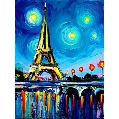 Paris om natten 5D Diamond Painting
