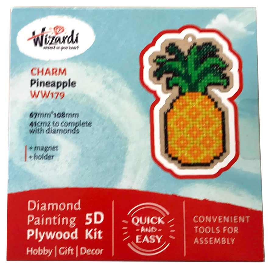 Ananas 5D Diamond Paint, krydsfiner projekt