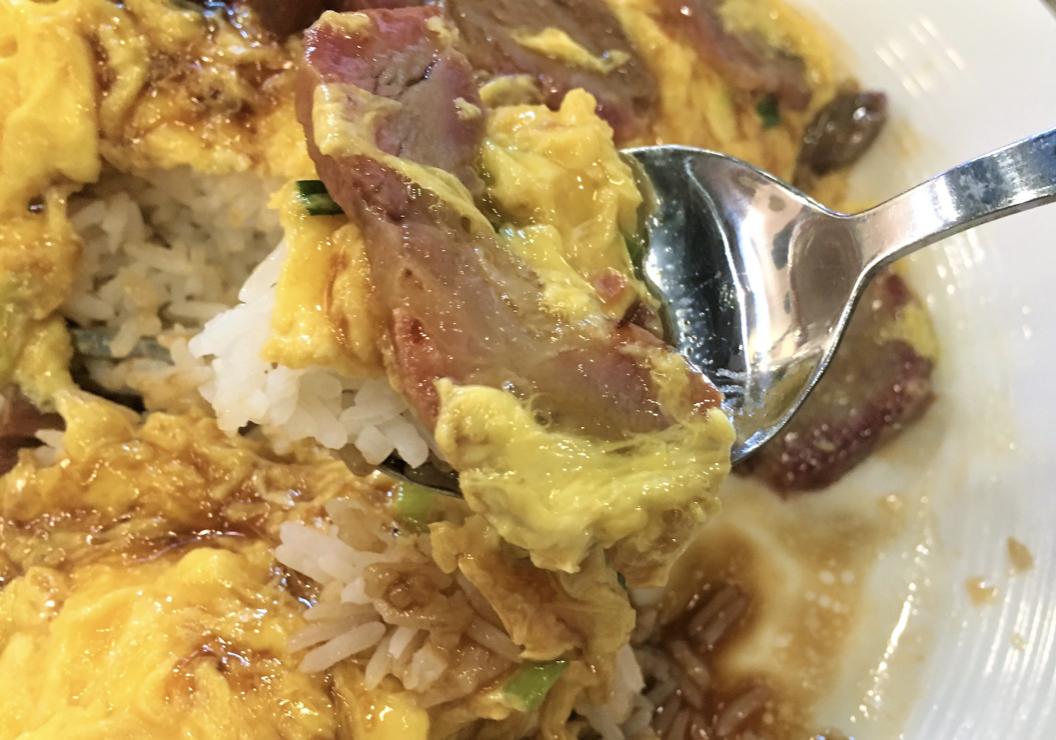 叉燒炒蛋飯 Fried Pork Omelette Rice