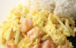蝦仁炒蛋飯 Fried Prawn Omelette Rice