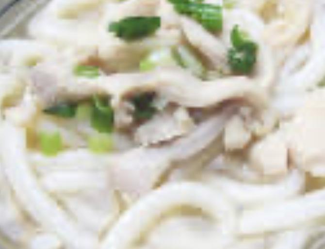 雞絲湯烏冬Shredded Chicken Soup Udon