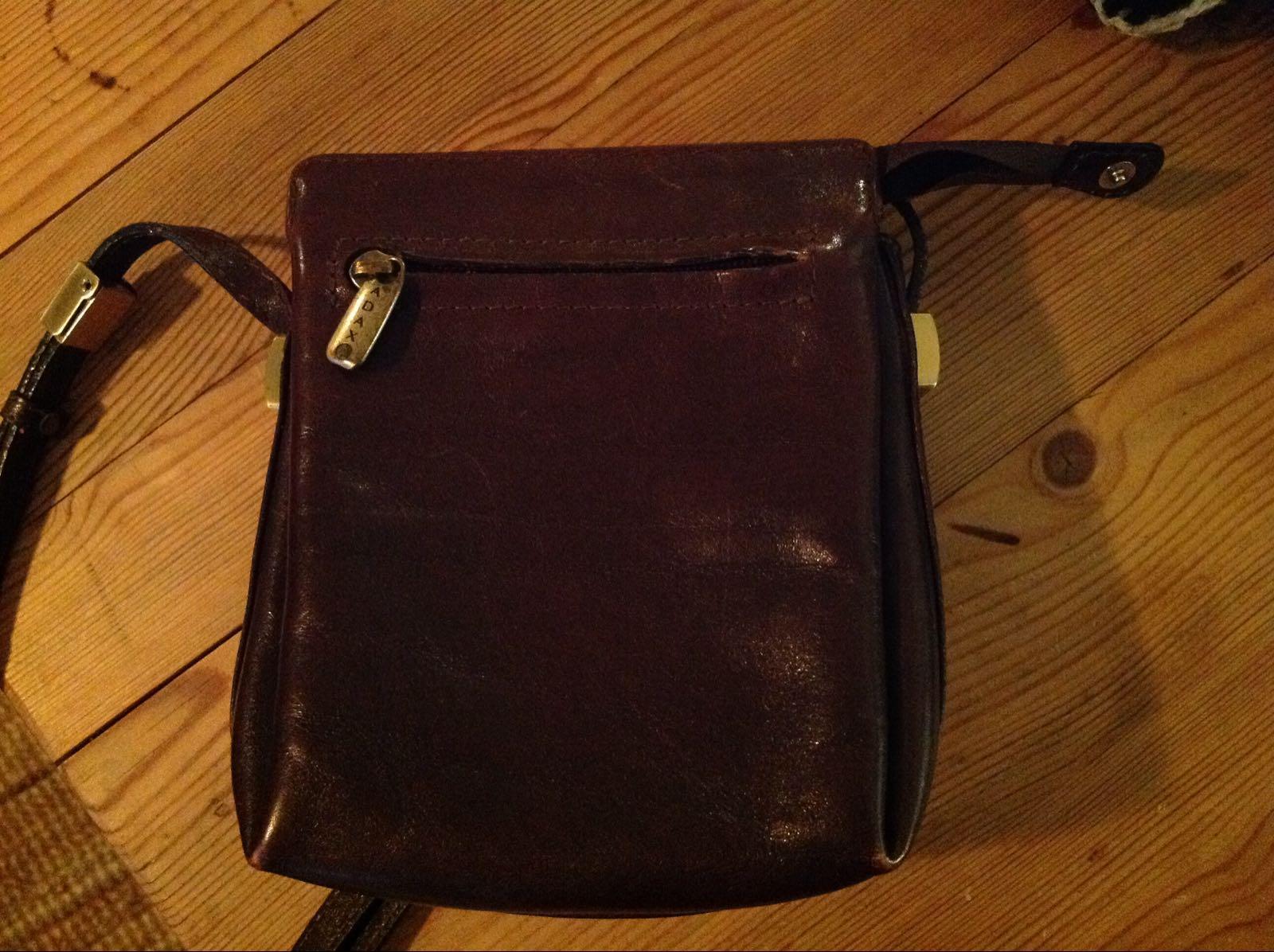 Väska Adax brun skinn (second hand)