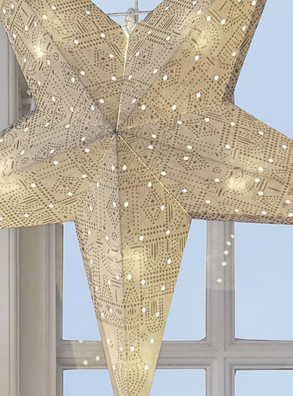 Tivolig Lights stjerne m/batteri