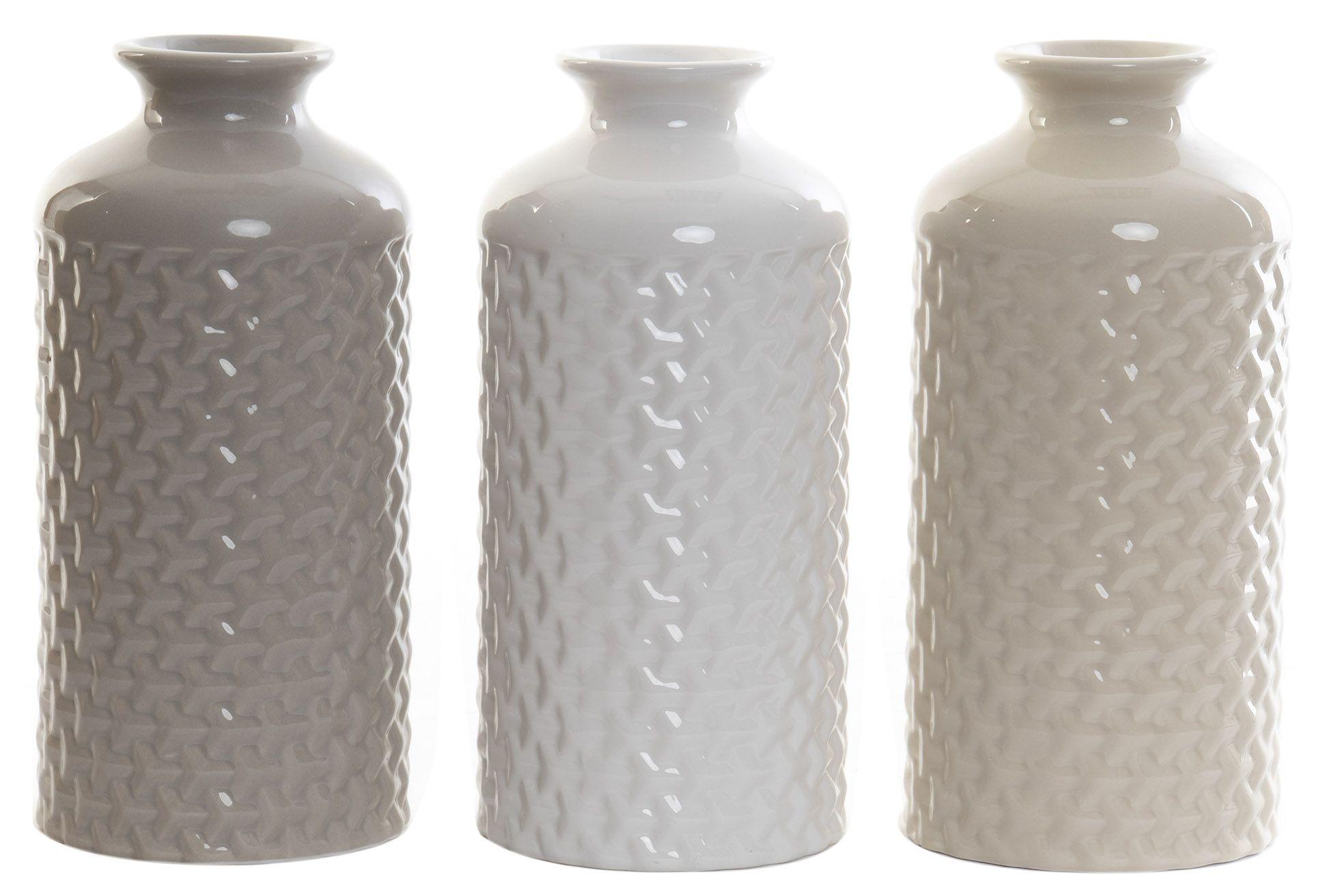 Vase i keramik 9x20 cm