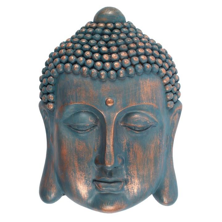 Buddha hoved blå