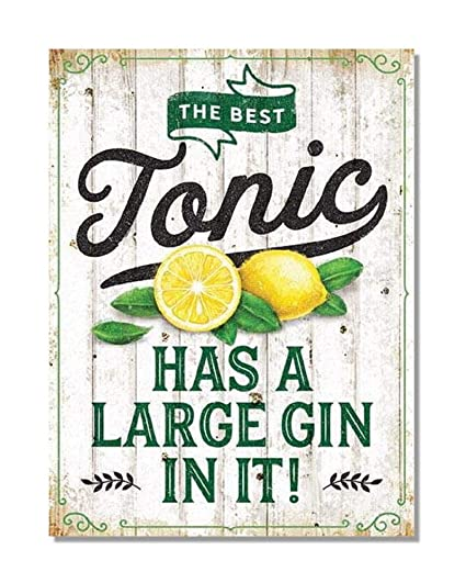 Metalskilt gin & tonic