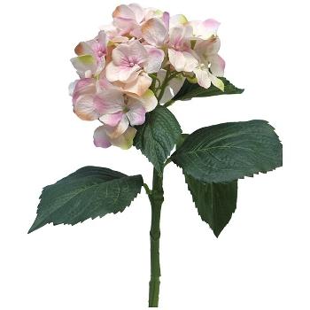 Kunstig blomst, lyserød Hortensia